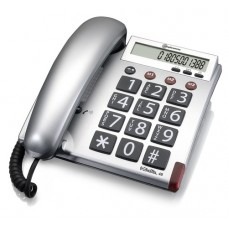 Large button telephone with programmable emergency numbers