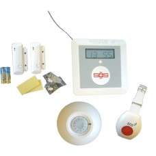 GSM HOME CARE SYSTEM WITH TEMPERATURE ALARM AND SAFETY SENSORS (ECS-K1)