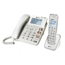 Geemarc AMPLIDECT COMBI 295 desktop phone with cordless handset