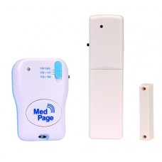 Wireless door security alarm with radio pager MPPL-DCKIT