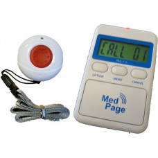 Call button transmitter with alarm radio pager