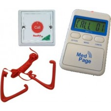 Disabled toilet pull cord transmitter with alarm pager RON WC-PAG11