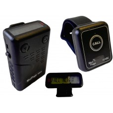 BC346-EM400 Long range waterproof fall detecting call pendant with digital data message pager for senior care & lone workers