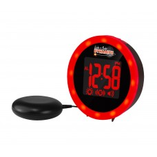 Wake n Shake Dynamite GWNSD Alarm clock with extra loud alarm, shaker and  super bright ring of red led flashing lights