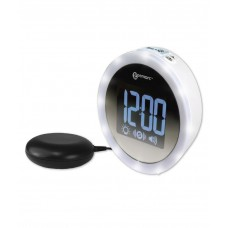 Wake n Shake Star Alarm clock with extra loud alarm, shaker and super bright ring of led flashing lights GWNSS