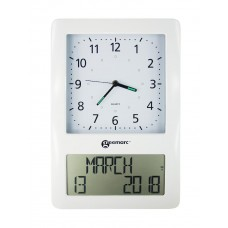 VISO50 Extra-Large analogue display clock with digital day & date display